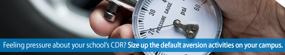 Feeling pressure about your school's CDR? Size up the default aversion activities on your campus.
