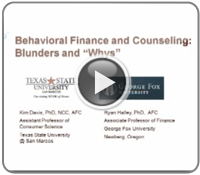 Behavioral Finance in Financial Counseling Blunders and Whys